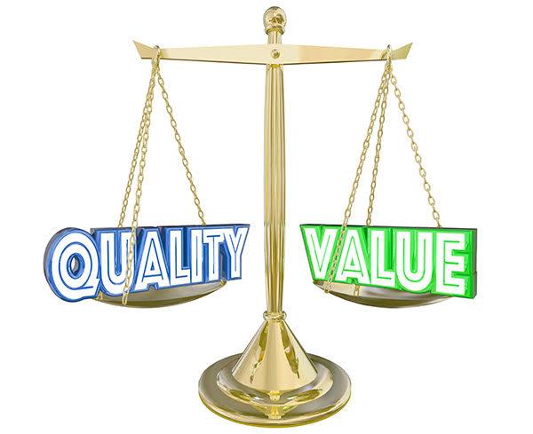 Qualité balance valeur